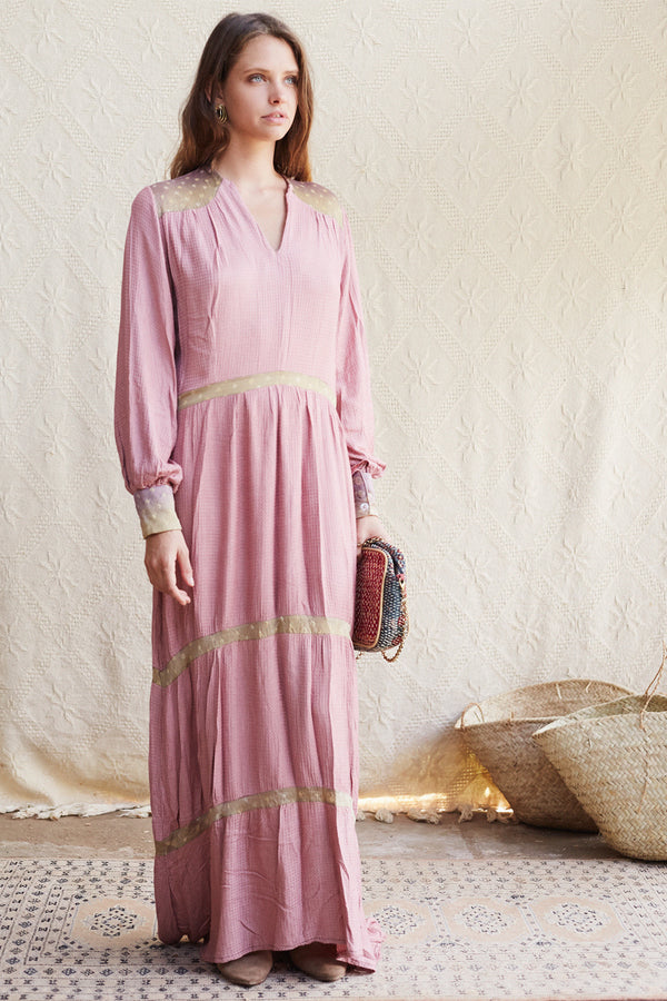 Luna Dress in dusty rose