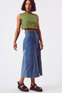 Repurposed Denim Skirt