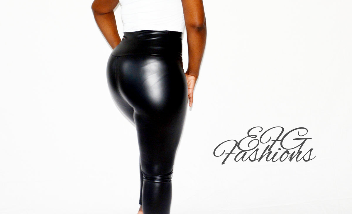 e80b022bd7d464 Lather me up high waist faux leather leggings – EFG Fashions