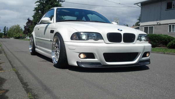 """CSL Style"" Carbon Fiber Front Lip mounted on a E46 M3 *2X2 Shown"