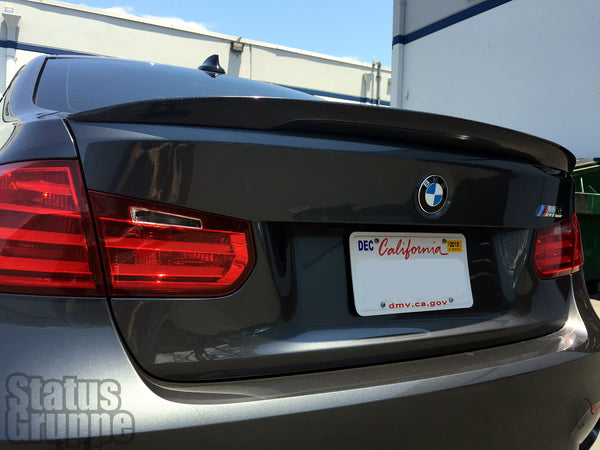 "BMW F30 | F80 M3 12-18 ""High Kick"" Carbon fiber Rear Trunk Lid Spoiler"