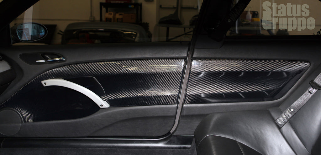 SGT-CSL Panels shown with Brushed aluminum look handles and 2x2 CF & BMW E46 Coupe CF CSL Door panel inserts | Status Gruppe ... Pezcame.Com