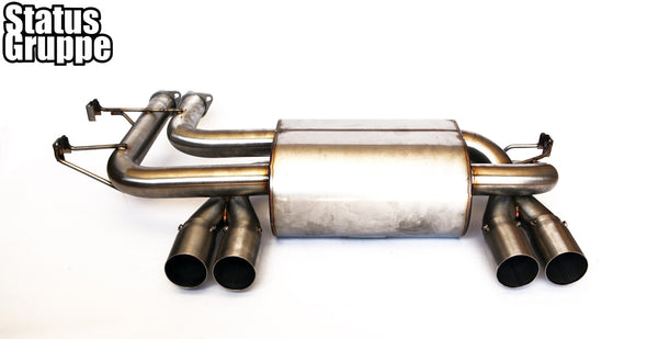BMW E46 M3 SCZA Rear Muffler with Stainless Steel Single Wall tip Option