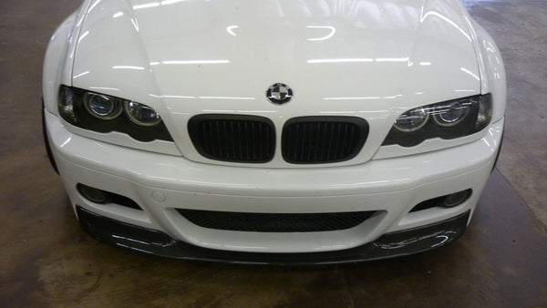 """CSL Style"" Carbon Fiber Front Lip mounted on a 2003.5 M3 *2X2 Shown"