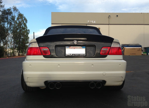 SGT-CSL Vert Trunk lid *CF Version shown* Mounted on 01 E46 M3
