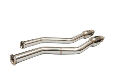 BMW E46 M3 Exhaust SECTION 1 with 100 CELL hi flow catalysts by BMW tuner Active Autowerke