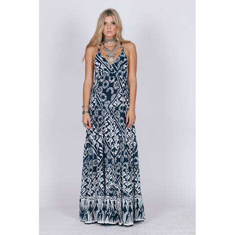 TROPIC BLUES RAZOR BACK MAXI - Stylemindchic Boutique - Curated Collections - 1