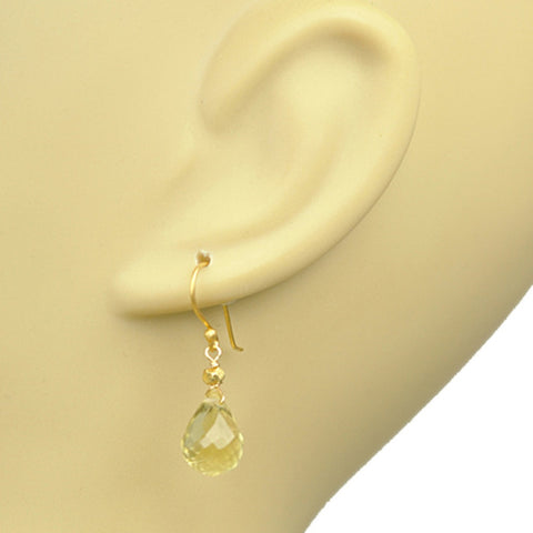 Lemon Citrine Drop Earrings - Stylemindchic Boutique - Curated Collections - 2