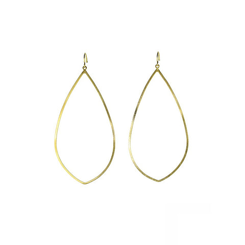 Gold Teardrop Hoops - Stylemindchic Boutique - Curated Collections - 1