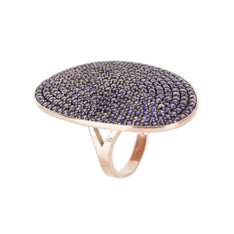St Tropez Ring Gold Black Zircon - LATELITA LONDON