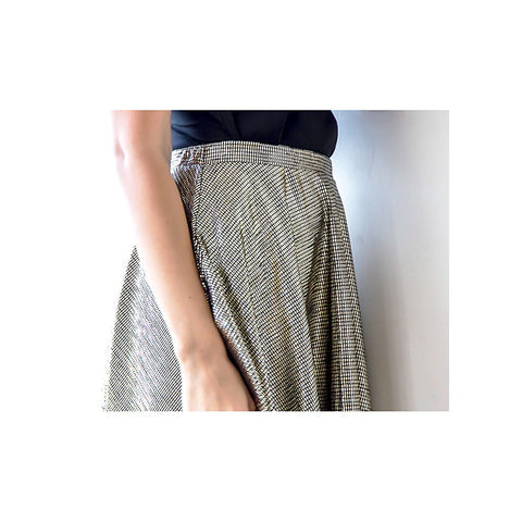 Metallic gold midi skirt with pockets - Stylemindchic Boutique - Curated Collections - 2
