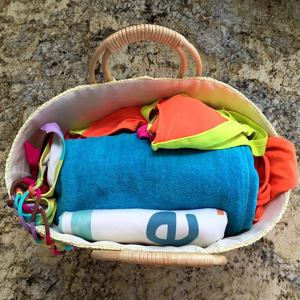Beach Glam Tropical Colored Beach Bags