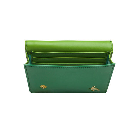 Green Leather Business Card Holder Wallet - Sparrow - Stylemindchic Boutique - Curated Collections - 2