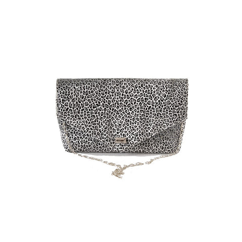 Leopard Silver envelope clutch - Stylemindchic Boutique - Curated Collections - 1