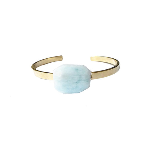 Aquamarine Cuff by Tocca Jewelry