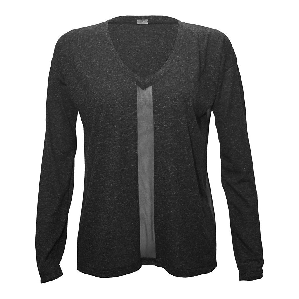 Mix Mesh Panel Sweatshirt - Stylemindchic Boutique - Curated Collections  - 4