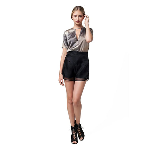 ZORIDA ORGANZA SHORTS - Stylemindchic Boutique - Curated Collections - 1