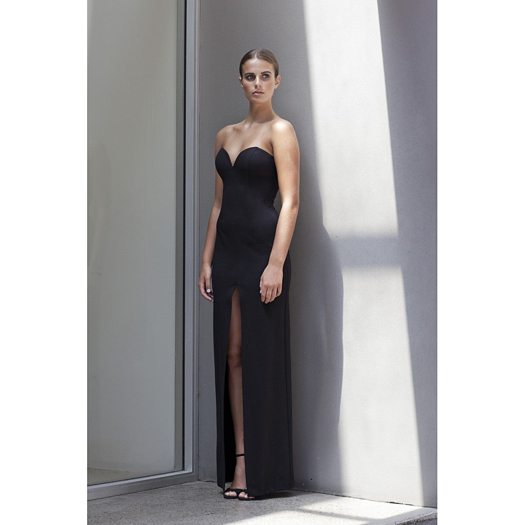 'No Limit' Split Ponte Dress in Black - Stylemindchic Boutique - Curated Collections - 2