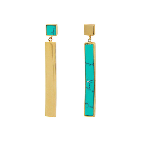 Duality Earrings- Turquoise - Stylemindchic Boutique - Curated Collections