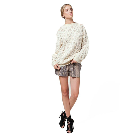 RAMEY BACK DROP OVERSIZED SWEATER by Jessica Faulkner - Los Angeles