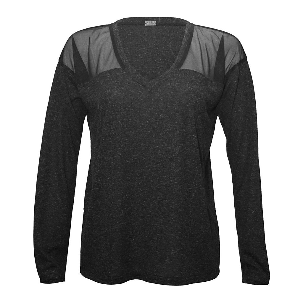 Mesh Yoke Sweatshirt - Stylemindchic Boutique - Curated Collections  - 3