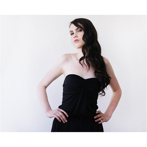 Ballerina Strapless Black Stretchy top - Stylemindchic Boutique - Curated Collections - 2