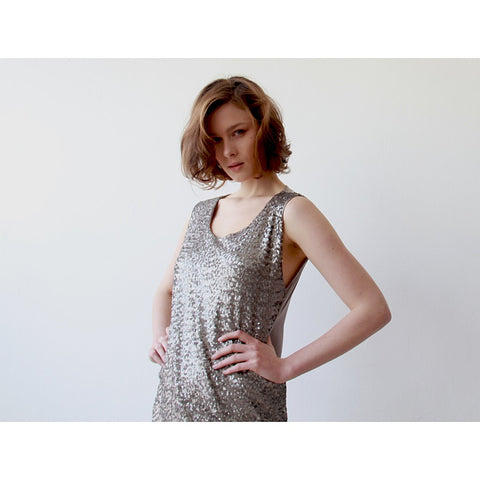 Glam Silver sequins mini dress - Stylemindchic Boutique - Curated Collections - 2