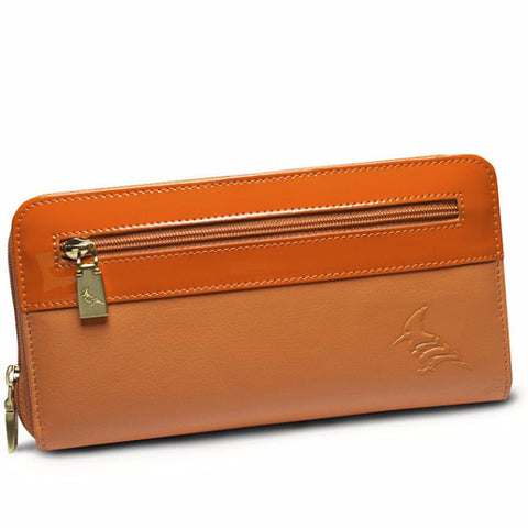 Robin Napa Leather Wallet - Peony