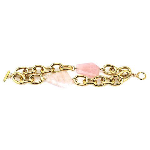"""Natali"" Miss Narcissist Bracelet in Rose Gold Quartz by Manic Trout"