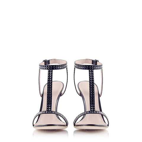 WARRIOR Pyramid Leather T-Strap Sandal - Stylemindchic Boutique - Curated Collections  - 2