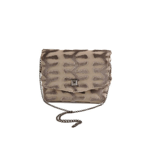 Totem Taupe square clutch - Stylemindchic Boutique - Curated Collections - 1