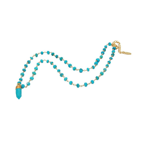 Turquoise Bullet Necklace - Stylemindchic Boutique - Curated Collections - 1