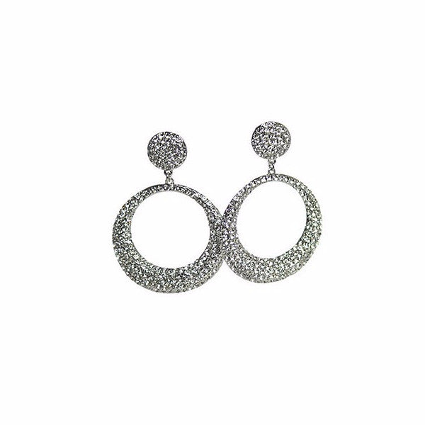 Izoa Adriana Round Earrings Silver - Stylemindchic Boutique - Curated Collections - 1