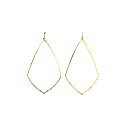 Gold Lantern Hoops - Stylemindchic Boutique - Curated Collections - 1