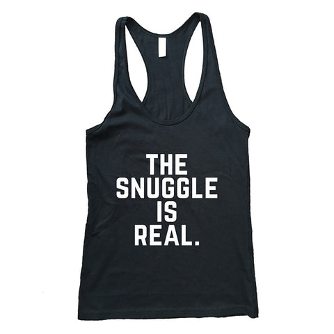 """The Snuggle Is Real""  Racerback Tank Top - AvaWilde"