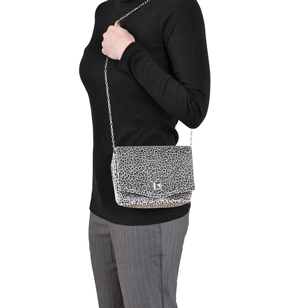Leopard Silver square clutch - Stylemindchic Boutique - Curated Collections - 3