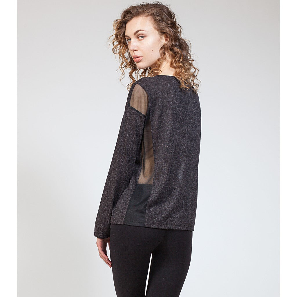Mix Mesh Panel Sweatshirt - Stylemindchic Boutique - Curated Collections  - 3