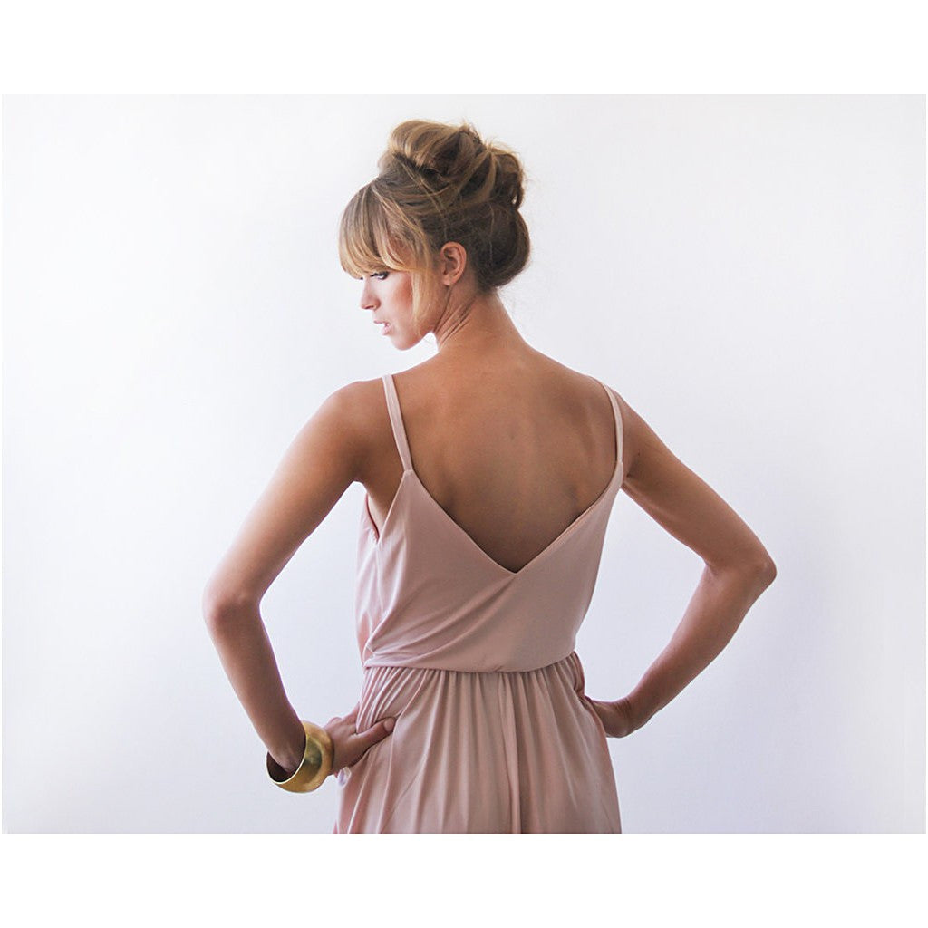Champagne maxi tulip wrap dress - Stylemindchic Boutique - Curated Collections - 4