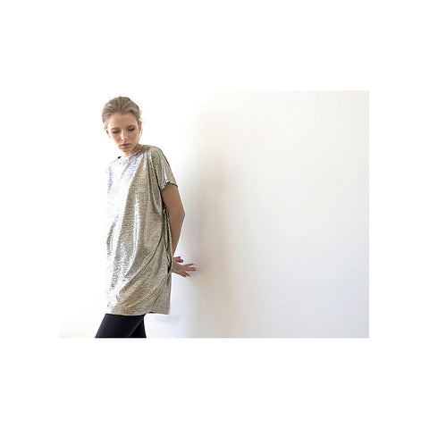 Metallic gold tunic with pockets - Stylemindchic Boutique - Curated Collections - 2