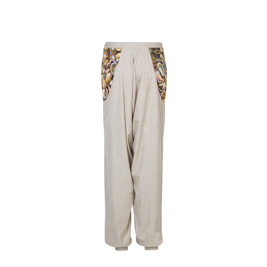 Harrem bamboo pants with digitally printed pockets - Stylemindchic Boutique - Curated Collections - 3