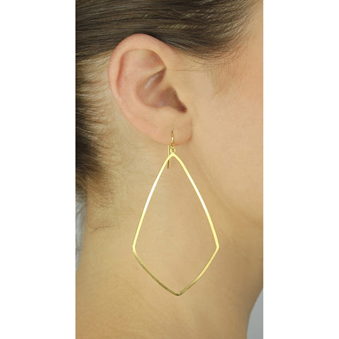 Gold Lantern Hoops - Stylemindchic Boutique - Curated Collections - 2