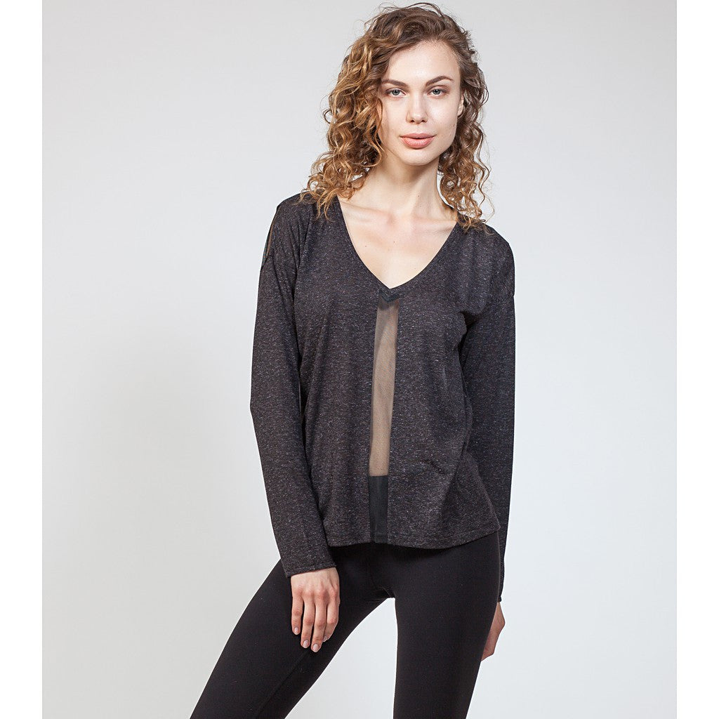 Mix Mesh Panel Sweatshirt - Stylemindchic Boutique - Curated Collections  - 1