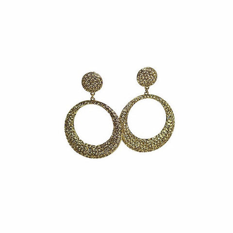 Izoa Adriana Round Earrings Gold
