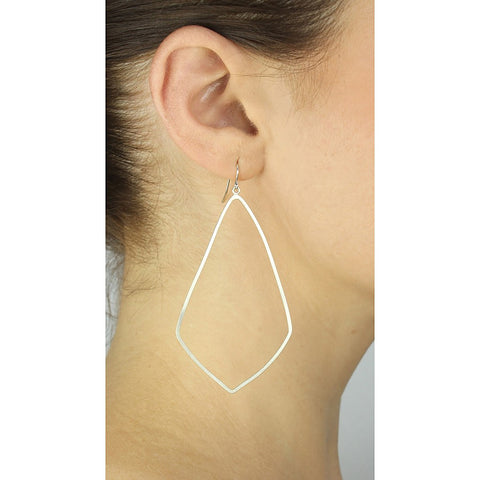 Silver Lantern Hoops - Stylemindchic Boutique - Curated Collections - 2