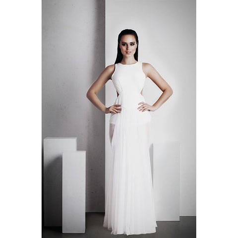 'Ophelia' Full Length Dress - White - Stylemindchic Boutique - Curated Collections - 1