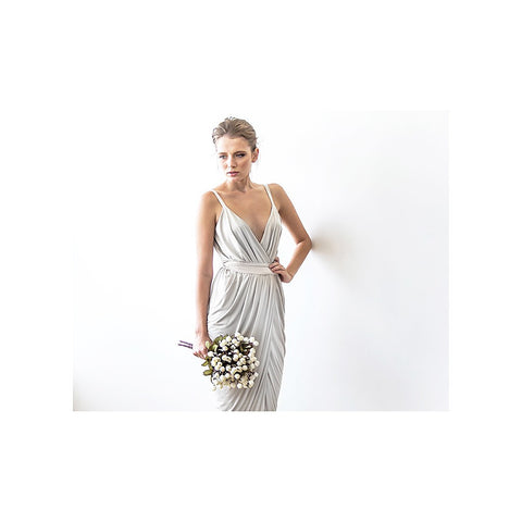 Ivory maxi wrap tulip dress - Stylemindchic Boutique - Curated Collections - 2