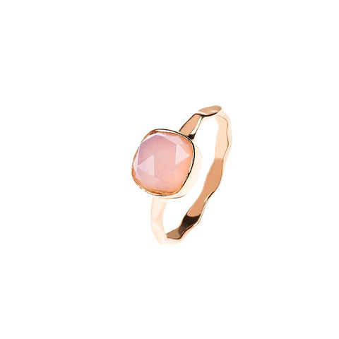 Rose Gold Stacking Ring Rose Quartz by Latelita London