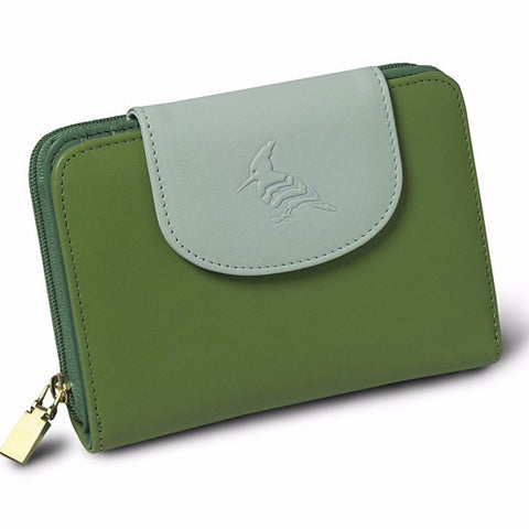 Hummingbird Napa Leather Wallet - Meadow - San Marino, California