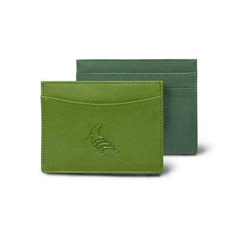 Green Leather CardHolder Two Toned- Skimmer