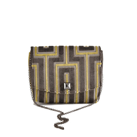 Maze Grey square clutch - Stylemindchic Boutique - Curated Collections - 1